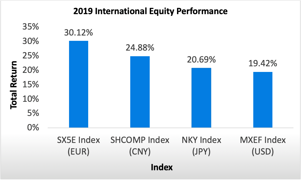 2019 International Equity Performance