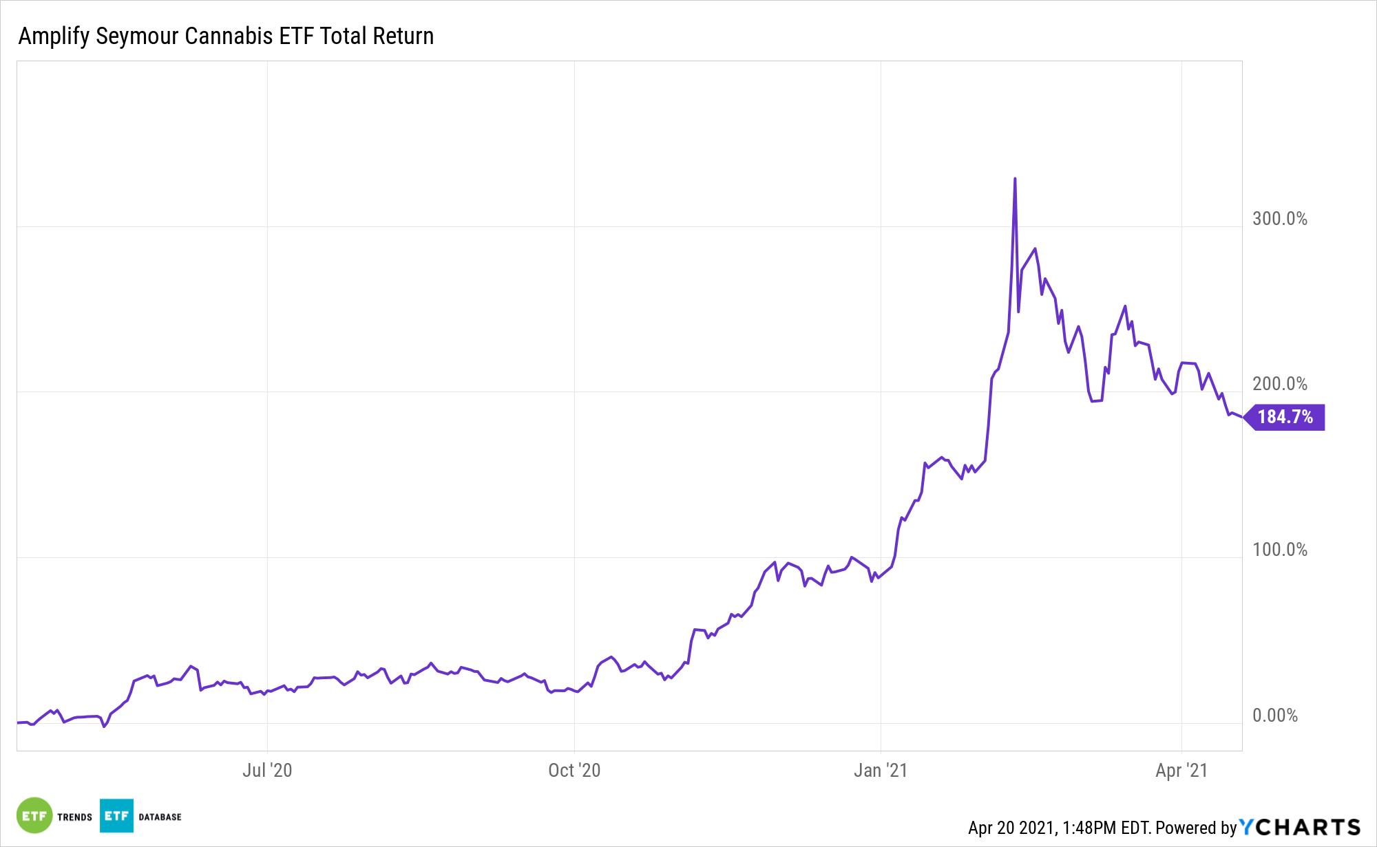 CNBS 1 Year Total Return